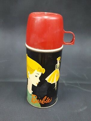 Vintage BARBIE Thermos WITH CUP 10 Oz. Size - Mattel Inc. 1962  Made by Holtemp