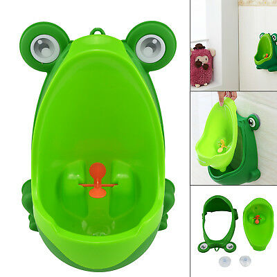 UK Baby Children Potty Urinal Toilet Training Boy Bathroom Frog Pee Trainer