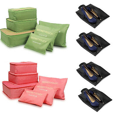 6-Size Premium Clothes Shoes Storage Bags Packing Cube Travel Luggage Organizers