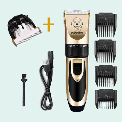 NEW Pet Dog Cat Shave Clipper Hair Trimmer Set ReplaceableClipper Extra Blade