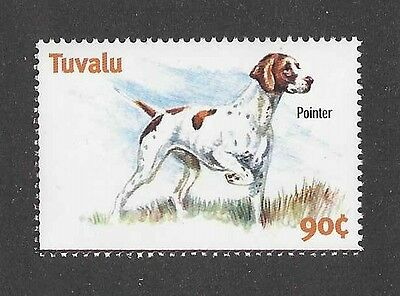 Dog Art Body Study Portrait Postage Stamp ENGLISH POINTER Tuvalu MNH