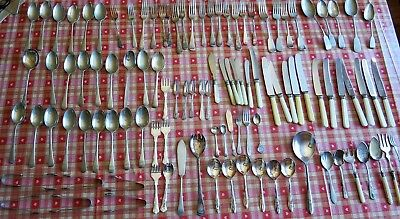 Large Quantity of Antique & Vintage Silver Plate and Stainless cutlery