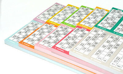 Bingo Tickets In Strips Of 6 Pad Flyers Single 1 Game 84 Sheets Perforated Bold