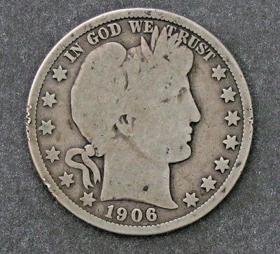 1906-D 50C Barber Half Dollar -- Good