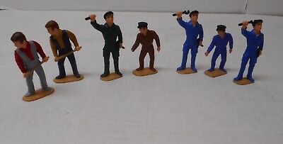 Lot of 7 Figures Working Men Used G Scale