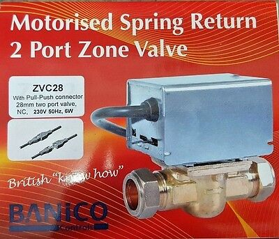 Banico 28mm 2 Two Port Motorised Zone Valve Replaces Honeywell V4043H1106
