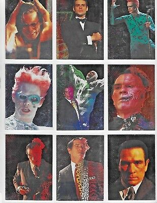 Batman Forever  ENEMY MINDS FOIL  9 Card Set E1 - E9   BY DYNAMIC MARKETING