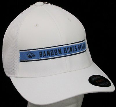 ae768c3bafc Bandon Dunes Resort Golf Club Hat Fitted FlexFit Performance Cap White S M  New