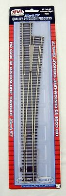 HO Scale Atlas 566 Code 83 #8 Custom-Line® Turnout Right