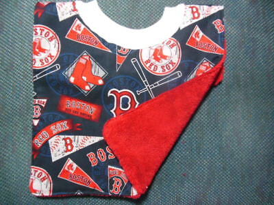MLB Boston RED SOX Baby Bib - Hand-crafted, NEW, REVERSIBLE