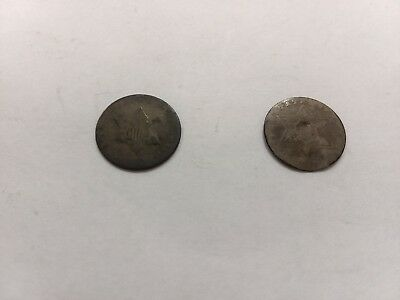 United States Silver 3 cent piece (Lot of 2)