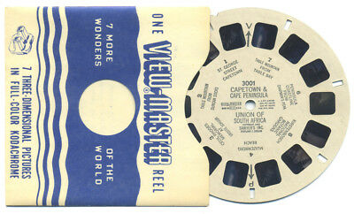 CAPETOWN and Cape Peninsula Union of South Africa 1950 ViewMaster Reel 3001