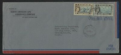 1958 Bahamas Commercial Air Mail Cover – Scott #165 + #168