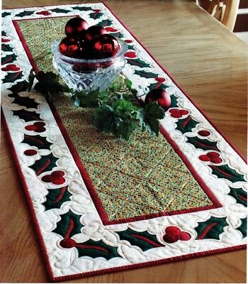 Christmas Table Runner Quilted.Christmas Table Runner Quilt Pattern Pieced Paper Pieced Applique Nm
