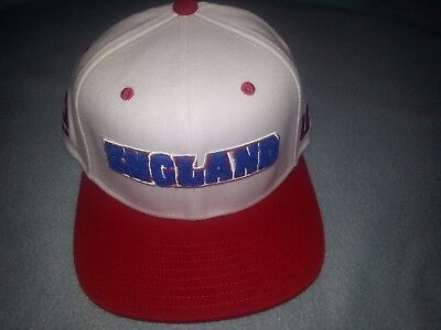 69464f341a4 Men s Reebok White Red UFC England Country Pride Fitted Hat SMALL MEDIUM