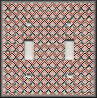 Metal Light Switch Plate Cover Mid Century Modern Home Decor Pattern Wallplates