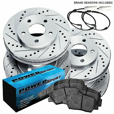 Fit 1997-2004 Porsche Boxster Front Rear Drill Slot Brake Rotors+Ceramic Pads