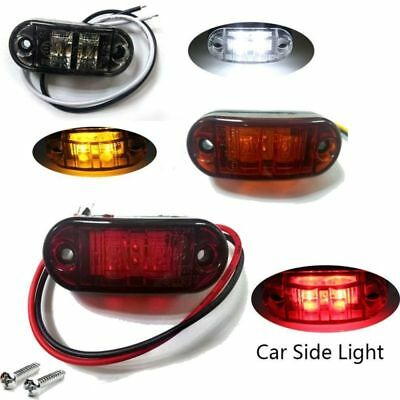Universal White LED Side Super Marker Clearance Light Lamp Truck Trailer Caravan