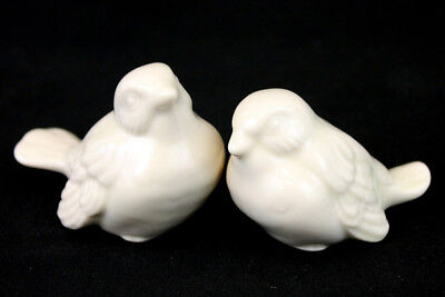 "Pair Of Porcelain Bird Figurines Labeled ""Porcelain By Ruth"""