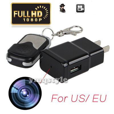 1080P HD Wall Charger Camera USB Mini SPY Motion Hidden EU/US Adapter Cam DVR DV