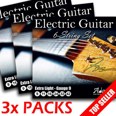 3 Full Sets of Adagio Electric Guitar Strings 9s 1ST CLASS POST Extra Light