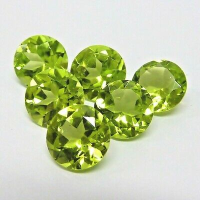 Wholesale Lot of 7mm Round Facet Cut Natural Peridot Loose Calibrated Gemstone