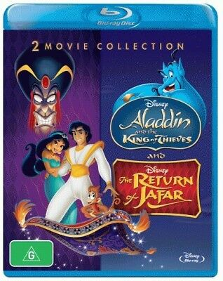 Aladdin: Aladdin: The King of Thieves / The Return of Jafar = NEW Blu-Ray Region