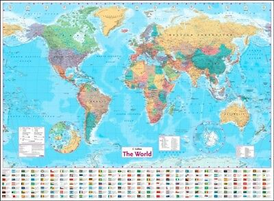 WORLD WALL PAPER MAP NEW EDITION, Collins Maps, 9780008211585