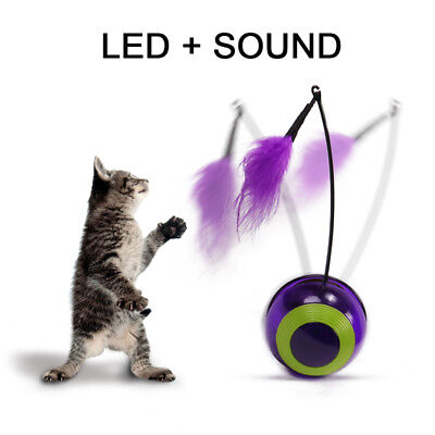 Pet Cat Toy Electric Rotating False Cricket Squeaking Tumbler  Interactive Toy