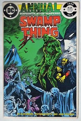 ESZ6334 SWAMP THING ANNUAL #2 DC V/FN 1985 JUSTICE LEAGUE DARK Unofficial Cameo`