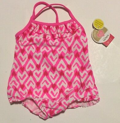 Carter's Bathing Suit NWT Size 18 Months Pink & White One Piece
