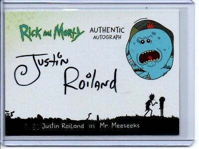 2018 Rick and Morty Autograph Card JR-K Justin Roiland/Mr.Meeseeks 47/50