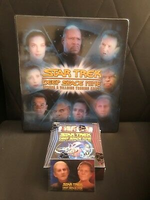 Star Trek Deep Space Nine Heroes And Villains Sealed Box And Binder ++