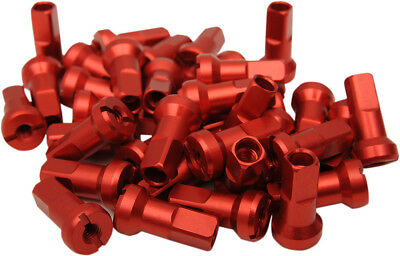 Moose Racing MX1 Motorcycle Anodized 9 Gauage Nipple Set Red 0211-0199
