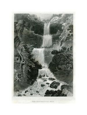 The Catterskill Fall, New York - Stahlstich