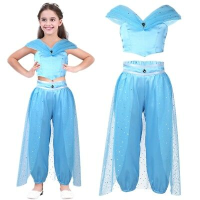 Girl Aladdin Costume Princess Jasmine Cosplay Fancy Dress Party