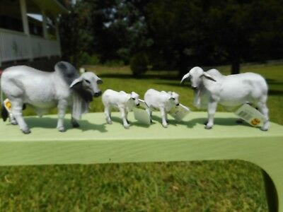 GRAY BRAHMAN COW FAMILY by CollectA/ toy/bull/cow/calf/RETIRED/brahma