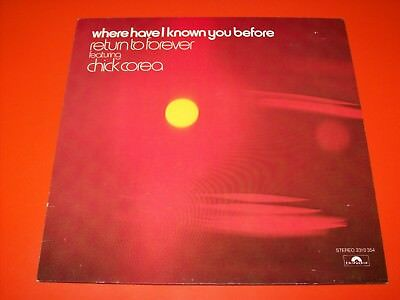 Return To Forever feat. Chick Corea ♪ Where Have I Known You Before ♪ LP [EX]