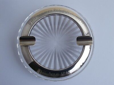 Aschenbecher Silber Offz.Corps Panzer ashtray solid silver tank regiment
