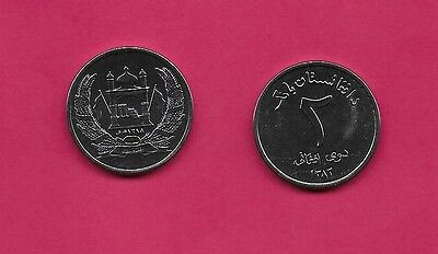 Afghanistan Rep 2 Afghanis 2004 Unc Mosque With Flags In Wreath,value,legend Abo