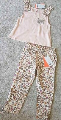 BNWT Girls Designer Angel & Rocket Next Summer Party Outfit Top Trousers Age 7