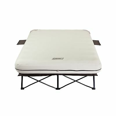 Coleman Queen Frame Airbed Cot with Side Tables + 4D Air Pump | 2000020270