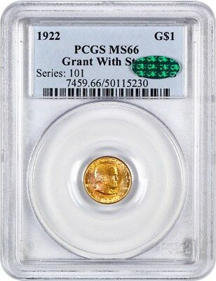 1922 Grant with Star G$1 PCGS/CAC MS66 - Classic Commemorative - Gold Coin