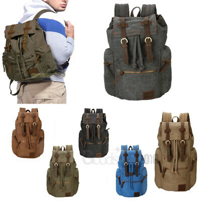 Men Women Travel Canvas Backpack Rucksack Camping Laptop Hiking School Book  Bag fc4f61ae7fc0b