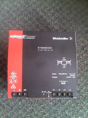 Weidmuller 8708680000 Power Supply 10Amp 24Vdc 250W New Quantity!!