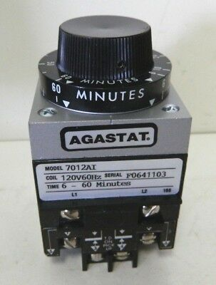 Agastat 7012AI Timing Relay 120V 60Hz 6-60 Min #2