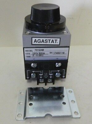 Agastat 7012Ab Timing Relay 0.5-5Sec 120V-Ac D594070
