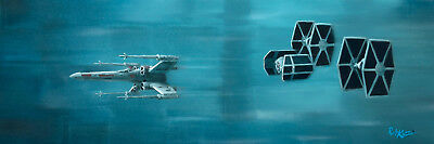 """Acme Archives Star Wars Giclee On Canvas By Rob Kaz """"trench Run"""" Luke's X-Wing"""