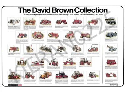 David Brown Case Tractor Poster Brochure 'The David Brown Collection'