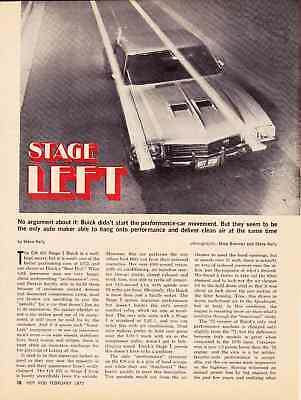 1972 Buick Gs Stage I 455/360 Hp  ~  Original 2-Page Road Test / Ad